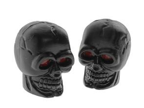 Ventilkappen Totenkopf schwarz
