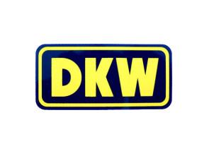 """""""DKW"""" Wasserabziehbild blau/gelb"""
