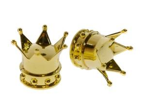 Ventilkappen Krone gold