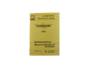 Betriebsanleitung Kleinmotorrad Condor X30A Typ 420