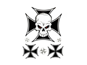 Iron Cross Skull Kleberbogen