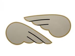 DKW Flügel silber Paar