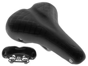 Sattel Comfort schwarz (Tonnenfedern)
