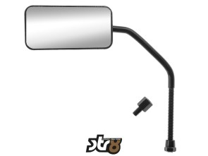 Spiegel STR8 F1-Style schwarz glanz