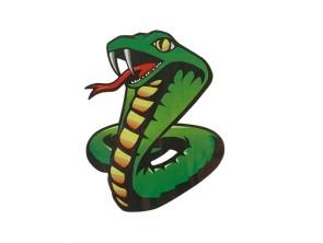 """Aufkleber """"Snake"""" (85x105 mm)"""