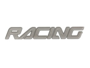 "Aufkleber ""Racing"" Alu matt (98x16 mm)"