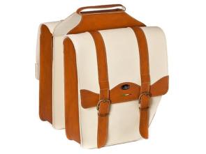 Gepäcktasche Classic Creme/Cognac