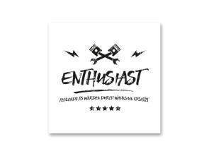 "Aufkleber ""Enthusiast"""