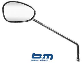 Spiegel oval BUMM Chrom links ohne Schelle