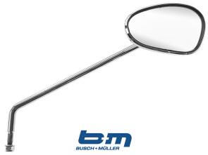 Spiegel oval BUMM Chrom rechts ohne Schelle