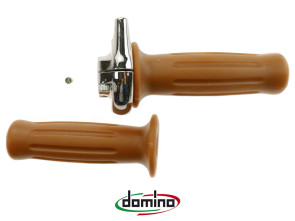 Gasgriff Domino Chrom (25mm, 2.9°/mm) universal