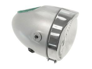 Eierlampe Ø103 mm silber (seitliche Bef.)