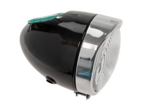 Eierlampe Ø103 mm schwarz (mittige Bef.) Oldie