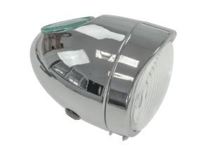 Eierlampe Ø103 mm chrom (mittige Bef.) Oldie