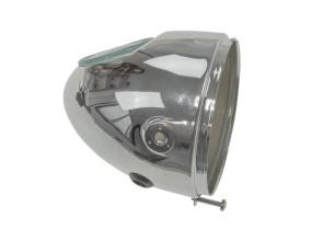 Lampentopf Eierlampe Ø103 mm chrom (seitliche Bef.)