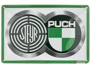 """Steyr - Puch"" Blechschild"