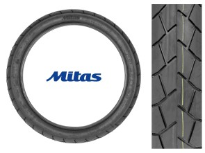 "Mitas Pneu 2.75 x 17"" MC11 (Semi-Slick)"