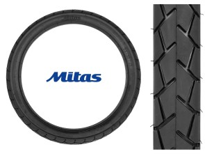 "Mitas Pneu 2.50 x 17"" MC11 (Semi-Slick)"