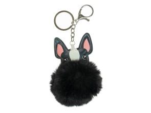 Fellbommel Hund schwarz