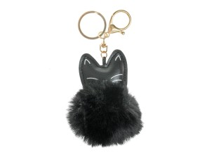 Fellbommel Katze schwarz