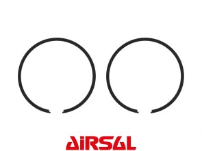 Airsal Kolbenringe Ø44 x 1.5mm Tomos schwarz (Paar)
