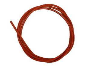 Kabelhülle Ø 5 mm rot (per Meter) Teflon-Innenhülle