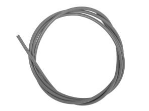 Kabelhülle Ø 5 mm grau (per Meter) Metall-Innenhülle