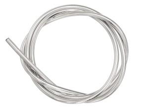 Kabelhülle Ø 5 mm chrom (per Meter) Teflon-Innenhülle