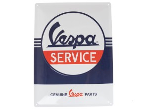 Blechschild Vespa Service 30 x 40 cm