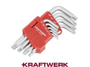 Kraftwerk Set Stiftschlüssel Torx abgewinkelt 9-teilig