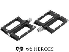 66Heroes CNC Pedalen Aluminium schwarz eloxiert