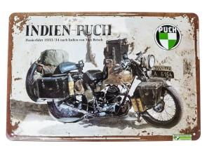 """""""Puch Indien Pionierfahrt"""" Blechschild"""