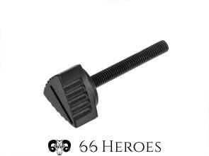 Seitenschutzschraube CNC 36 mm Alu schwarz (Vollmaterial)