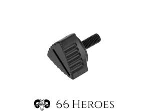 Seitenschutzschraube CNC 13 mm Alu schwarz (Vollmaterial)