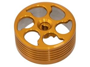 Kupplungsglocke CNC Alu gold Wandler Vario Piaggio