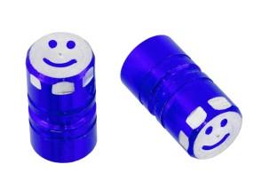 Ventilkappen Smile blau