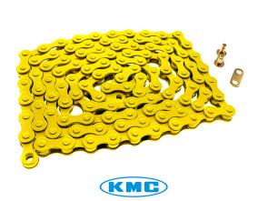 KMC Tretkette gelb universal