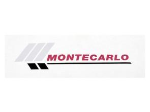 """Aufkleber """"MONTECARLO"""" Piaggio Si (128x38 mm)"""