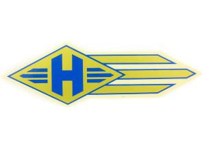 """""""H"""" Hercules Wasserabziehbild gold/ blau"""