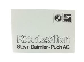 Richtzeiten Steyr - Daimler - Puch AG