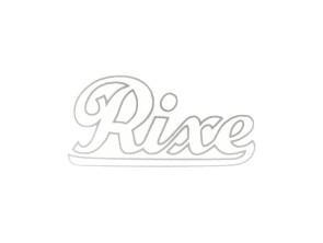"""""""Rixe"""" Wasserabziehbild silber klein"""