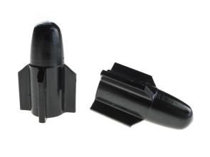 Ventilkappen Torpedo schwarz
