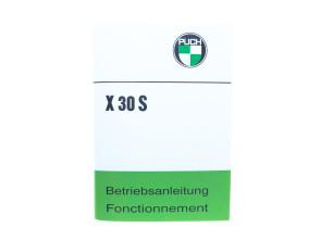 Betriebsanleitung Puch X30S Velux (Sport Ausführung)