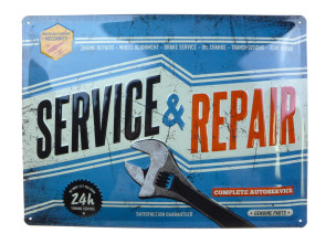 'Service & Repair' Blechschild