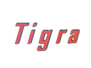"""""""Tigra"""" Aufkleber kursiv"""