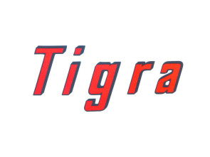 """Tigra"" Aufkleber kursiv (günstig)"