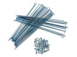 """19"""" Speichenset Stahl verzinkt inkl. Nippel (2.9 x 212 mm)"""
