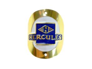 """""""Hercules"""" Markenschild am Steuerrohr (gebogen)"""