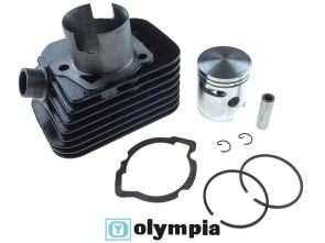 Olympia Ø43 mm Rennzylinder ohne Kopf, Piaggio (axe 10mm)