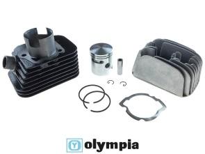 Olympia Ø 43 mm Rennzylinder inkl. Kopf, Piaggio Ciao (axe 12mm)